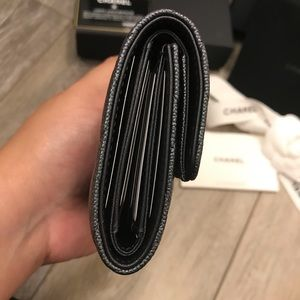 CHANEL Bags - Chanel Small Flap Wallet Iridescent Black